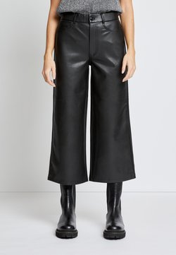 ONLY Petite - ONLMADISON WIDE CROP - Stoffhose - black