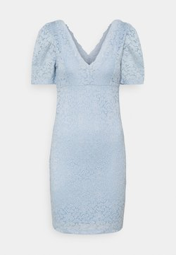 ONLY - ONLNEW ALBA PUFF V-NECK DRESS - Cocktailkleid/festliches Kleid - cashmere blue