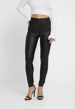ONLY Petite - ONLROYAL BUTTON  - Jeans Skinny - black