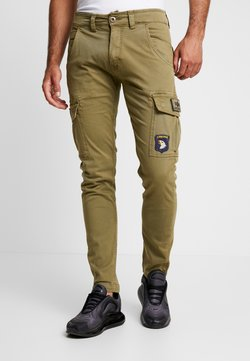 Alpha Industries - PETROL PATCH - Cargo trousers - oliv