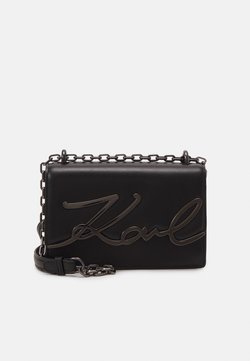 KARL LAGERFELD - SIGNATURE SMALL SHOULDERBAG - Torba na ramię - black/gun metal
