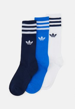 adidas Originals - SOLID CREW UNISEX 3 PACK - Calcetines - blue/white