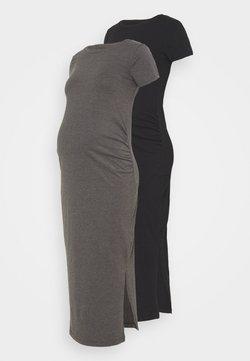 Anna Field MAMA - 2 PACK - Vestido ligero - black/dark grey