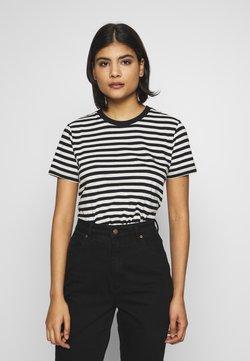 Calvin Klein - LOGO STRIPE - T-Shirt print - black/white smoke
