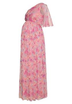 Anaya with love Maternity - ONE SHOULDER DRESS WITH FLUTTER SLEEVE - Vardagsklänning - pink