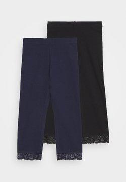 Anna Field - 2 PACK Capri Leggings with Lace - Legging - dark blue/black