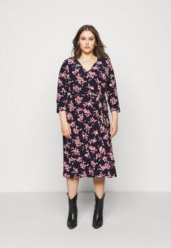 Lauren Ralph Lauren Woman - CARLYNA - Jersey dress - navy/orient red/cream