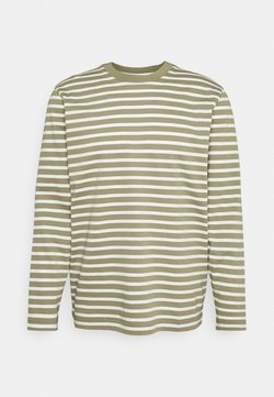 Selected Homme - SLHRELAXCOLMAN O NECK TEE  - Maglietta a manica lunga - aloe/egret
