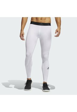 adidas Performance - TURF LONG TIGHT PRIMEGREEN TECHFIT WORKOUT COMPRESSION LEGGINGS - Tights - white