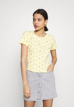 Hollister Co. - LETTUCE BABY TEE - T-Shirt print - yellow