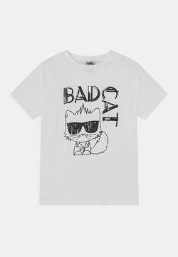 KARL LAGERFELD - SHORT SLEEVES TEE - T-shirt med print - white