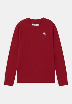 Abercrombie & Fitch - BASIC - Long sleeved top - red