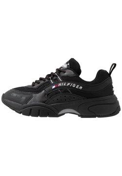 Tommy Jeans - HERITAGE RUNNER - Sneakers laag - black
