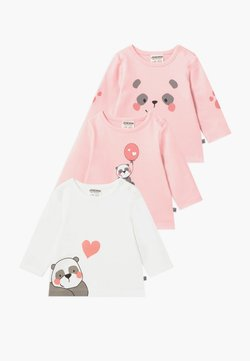 Jacky Baby - PANDA LOVE 3 PACK - T-shirt à manches longues - light pink