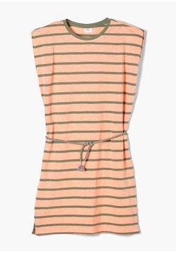 s.Oliver - Jerseykleid - neon peach stripes