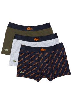 Lacoste - 3 PACK - Shorty - bleu marine / orange / vert kaki / gris chine