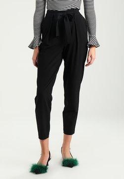 ONLY - ONLNICOLE PAPERBAG  - Pantalon classique - black