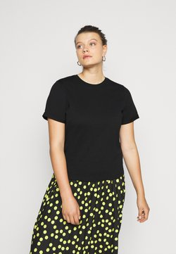Pieces Curve - PCRIA FOLD UP SOLID TEE - T-shirt basic - black