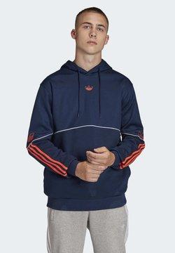 adidas Originals - OUTLINE HOODIE - Jersey con capucha - blue