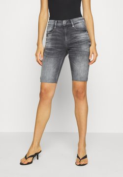 G-Star - 4311 NOXER HIGH SLIM RIPPED - Jeans Shorts - vintage basalt