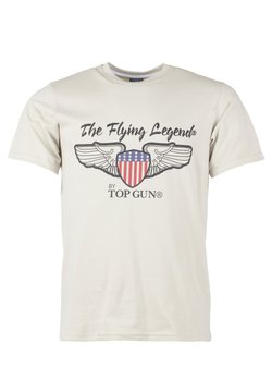TOP GUN - T-shirt print - beige