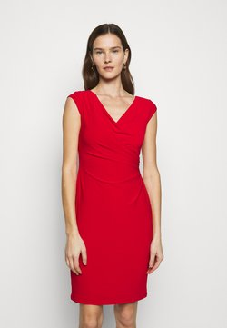 Lauren Ralph Lauren - MID WEIGHT DRESS - Vestido de tubo - lipstick red