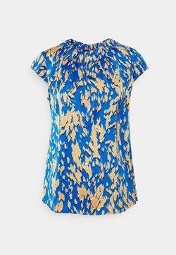 comma - KURZARM - T-Shirt print - blue