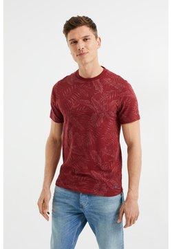 WE Fashion - Printtipaita - burgundy red