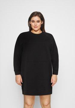 Noisy May Curve - NMLUPA KANGAROO DRESS - Day dress - black