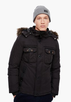 Q/S designed by - MIT FAKE FUR-BLENDE - Winterjacke - black
