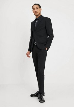 Isaac Dewhirst - BASIC PLAIN SUIT SLIM FIT - Puku - black