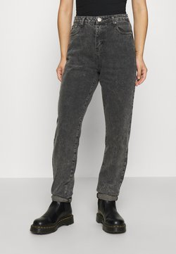 Glamorous Petite - LEAH MOM - Relaxed fit jeans - washed black