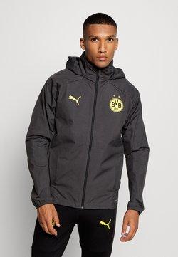 Puma - BVB BORUSSIA DORTMUND RAIN JACKET - Vereinsmannschaften - asphalt/cyber yellow