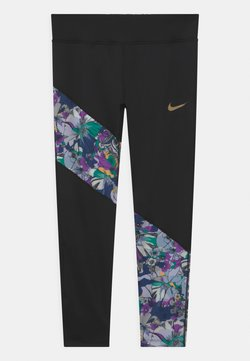 Nike Performance - Tights - black/multi-color/metallic gold