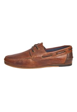 Next - NAVY FORMAL TEXTURED LEATHER BOAT SHOES - Purjehduskengät - brown