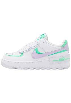 Nike Sportswear - AIR FORCE 1 SHADOW - Matalavartiset tennarit - white/infinite lilac/football grey/green glow/violet shock