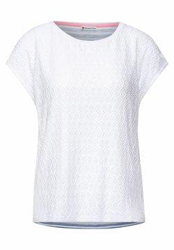 Street One - MIT SPITZE - T-Shirt print - weiß