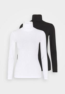 Anna Field - 2 PACK - Långärmad tröja - black/white