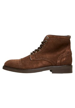 Selected Homme - Schnürstiefelette - brown stone