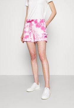 DKNY - PULL ON TIE DYE CARGO POCKET - Shorts - white/hyper pink