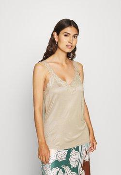 Esprit Collection - FLOW VNECK - Top - khaki beige