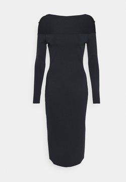 Victoria Beckham - SCOOPED BACK LONG SLEEVE DRESS - Stickad klänning - navy