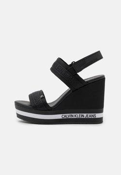 Calvin Klein Jeans - WEDGE SLING - Sandales à plateforme - black