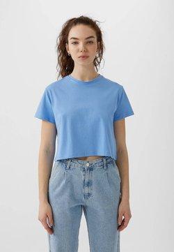 Stradivarius - MIT KURZEN ÄRMELN - T-shirt basic - blue