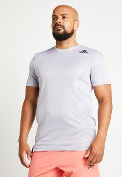 adidas Performance - HEAT.RDY TRAINING SLIM SHORT SLEEVE TEE - Camiseta estampada - glow grey