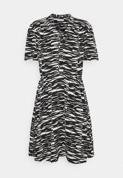 Calvin Klein - SHORT DRESS - Freizeitkleid - black/ecru