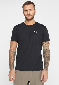 Under Armour - STREAKER SHORTSLEEVE - Camiseta estampada - black