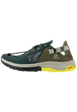 Salomon - TECH AMPHIB 4 - Hiking shoes - green gables/burnt olive/evening primrose