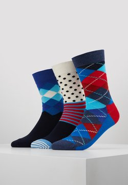 Happy Socks - ARGYLE/FADED DIAMOND/STRIPE AND DOT 3 PACK - Chaussettes - multi