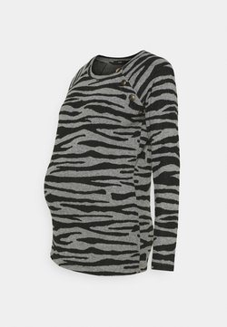 Supermom - ZEBRA - Strickpullover - black